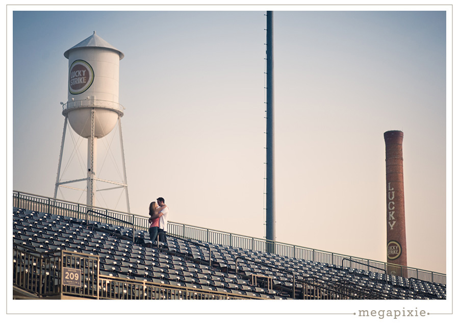 Durham Bulls Stadium Engagement Photography