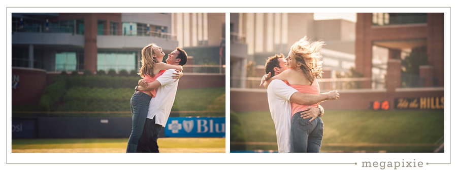 Durham Bulls Stadium Engagement Photography