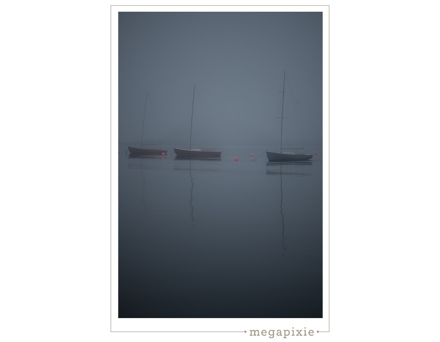 Sailboats Fog Maine Photographer