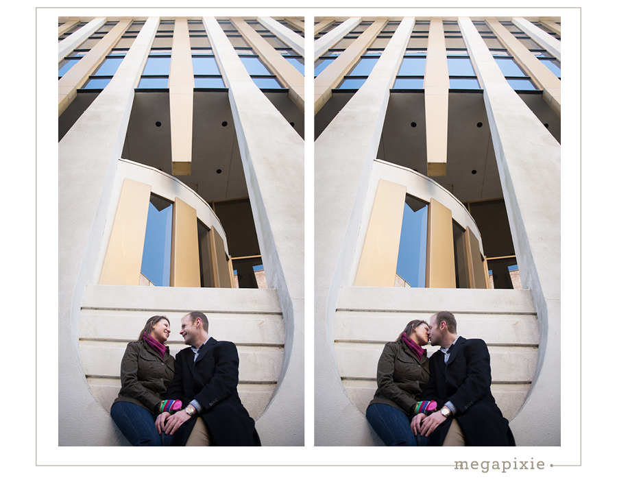 Downtown Durham Engagement Photography Session