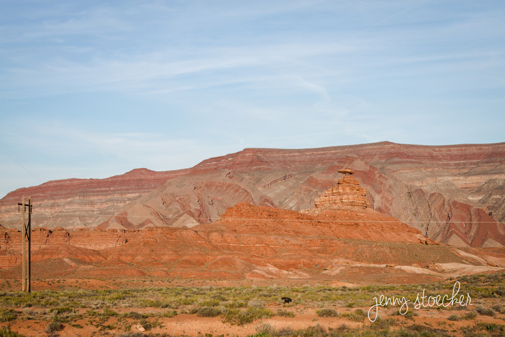 No joke, this was my Mom's favorite part—Mexican Hat rock. Can you see it?