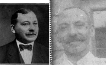 Samuel and Mendel Maltinsky. Two brothers in midlife. Left: Photo of Samuel Maltinsky from EMINENT JEWS OF AMERICA, published 1918.