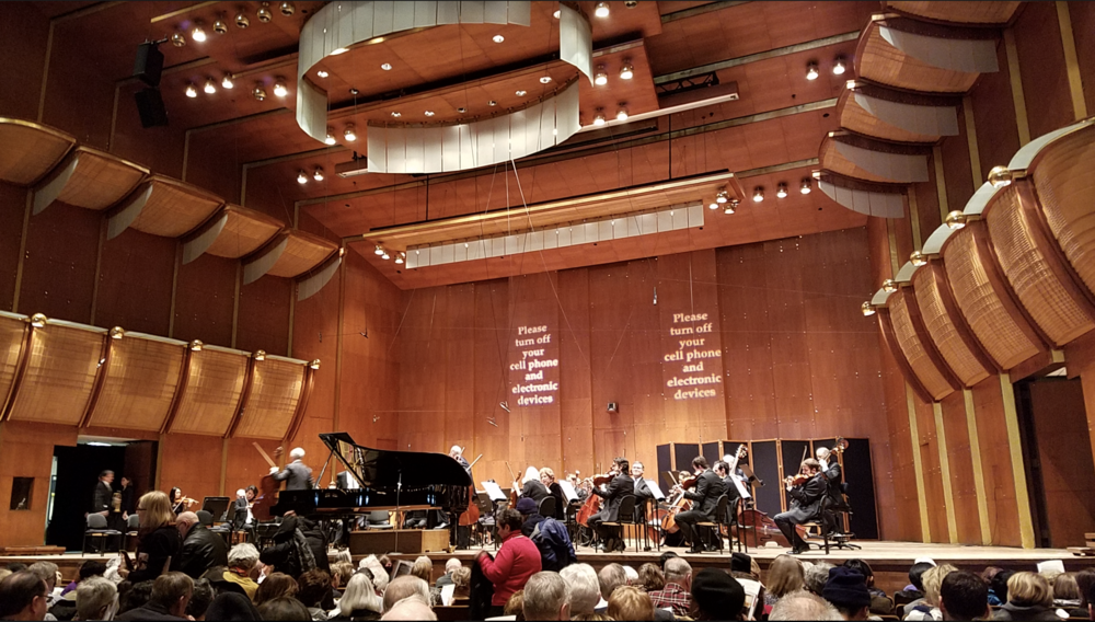 The tour group and the jazz band rejoined at the New York Philharmonic Concert to experience the professional performances of Beethoven and Piano Concerto No.1.