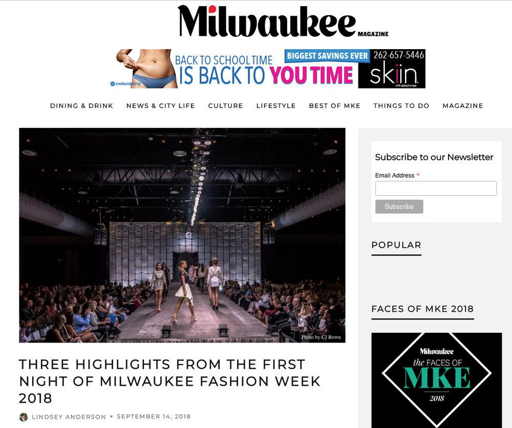 2018 - Milwaukee Magazine - Milwaukee Fashion Show