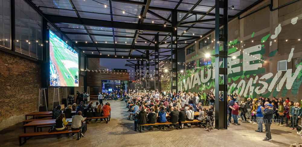 Milwaukee Bucks, Pavillion Opening /Brewers Playoff game @ Fiserv Forum