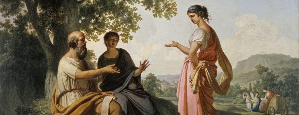 1260-Franc_Kavčič_-_Sokrat_z_učencem_in_Diotimo.jpg