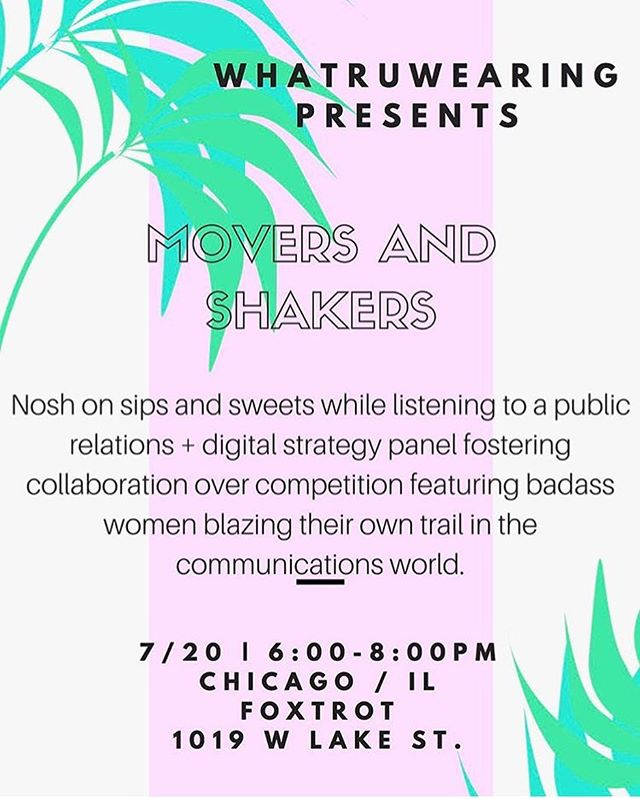 Interested in learning about the not so glam side of PR? Check out the Movers and Shakers PR + digital media panel on Thursday. I'm excited to be included with these inspiring ladies: @alitmoresco, @fallonpr & @prcouture! RSVP to info@amorescopr.com.