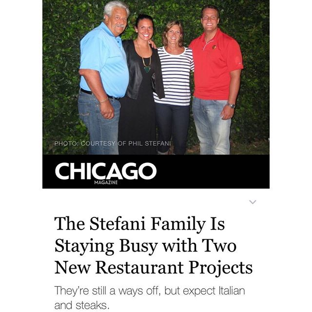 Word's out! Check out @chicagomag for more details on TWO new Stefani spots #ComingSoon
