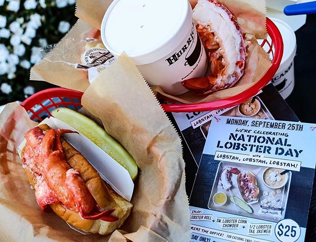 Celebrate the 3rd Annual #NationalLobsterDay today @lukeslobster. Get a lobster roll, lobster tail and lobster chowder for just $25!!