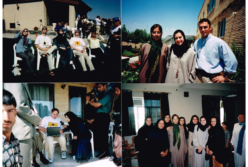Pictures from my 1999 trip to Iran, including one of Dr. Alan Hale (of Hale-Bopp comet fame) being interviewed by local media on the bottom left.