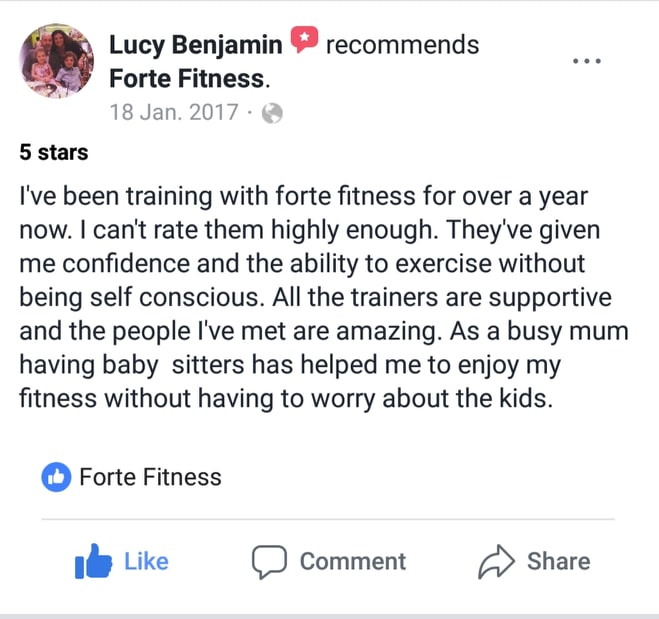 Lucy is a full time school teacher and mum of two, she wants to set an example to them.