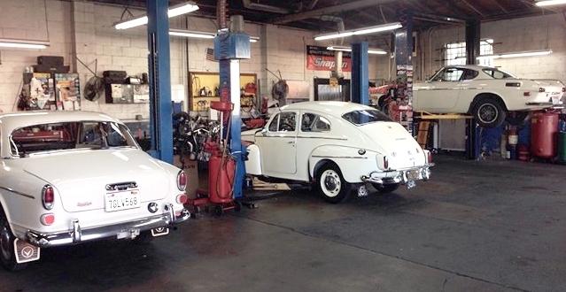 1966 Volvo 122, 1965 Volvo 544, and 1970 Volvo 1800