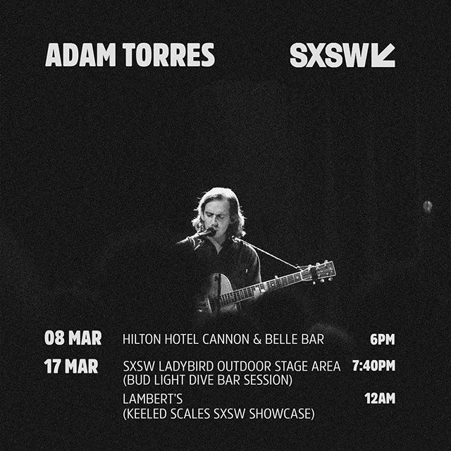 Beyond excited to be playing at @sxsw this year! ⚡️⚡️⚡️