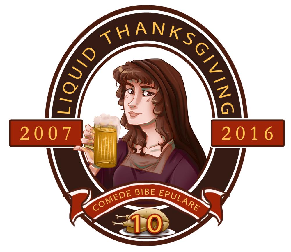 'Liquid Thanksgiving' Beer Stein Logo