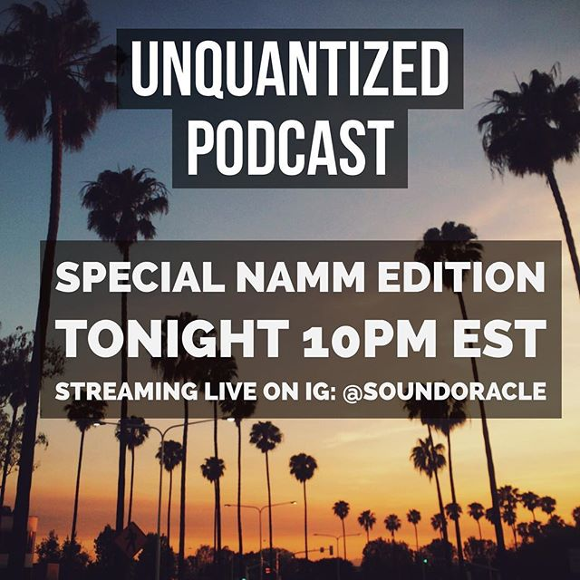 🚀🚀🚀 It's Friiiidaaay!!! The UnQuantized Podcast is a live an interactive podcast streaming on IG (@soundoracle). Join hosts @SoundOracle and @Triza as they discuss producer gear, answer  production and music questions, and share Industry stories. Tune in today at 10 PM EST to become part of the community.