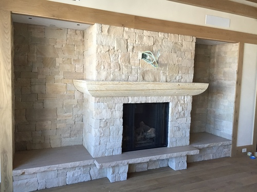Sandstone Fireplace fireplace/chimney — blackdog stone | masonry | park city, utah |