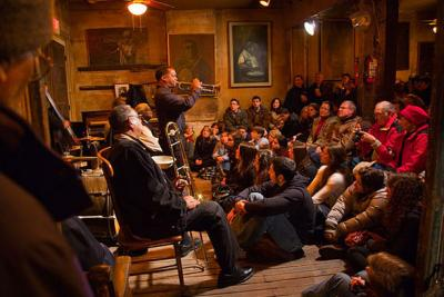 Preservation Hall is an historic jazz concert venue in New Orleans, Louisiana