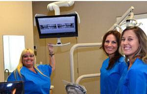 Our 3 Hygienists, Stephanie Azvedo, Ashley                     Anderson and Heather Sloan.