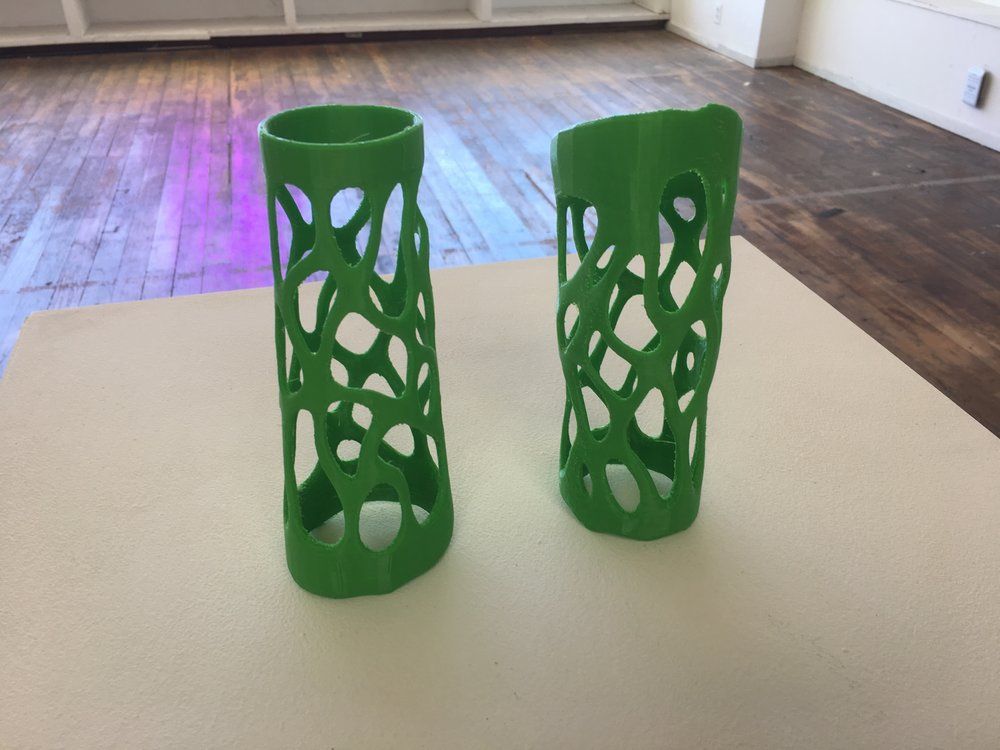 3D Printed arm pieces, Tiare Ribeaux, 2018