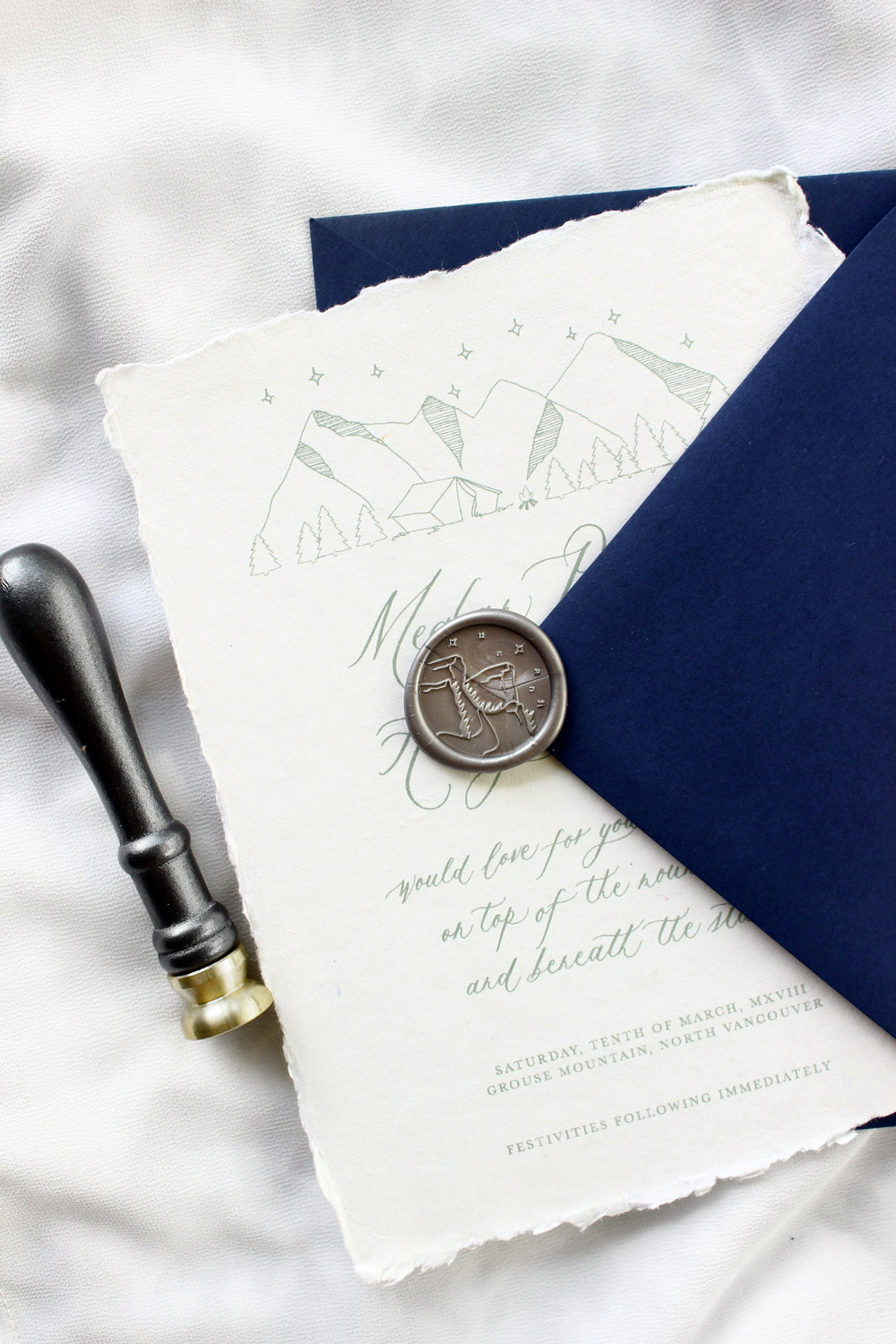 MAJESTIC MOUNTAINS WAX SEAL STAMP
