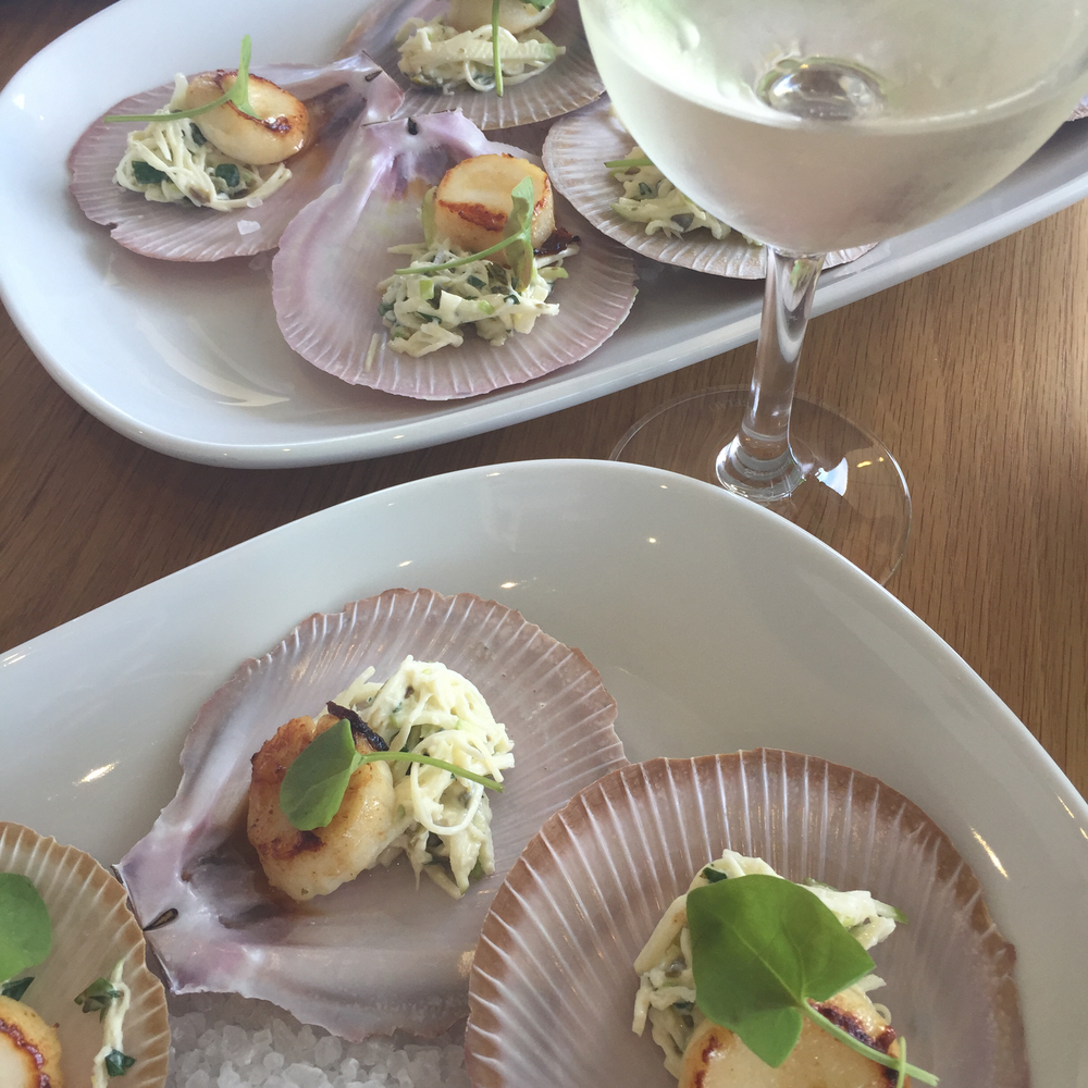 Scallops from Pike & Joyce - Perfect winery lunch