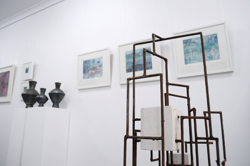 installation view of Sculptured OUT