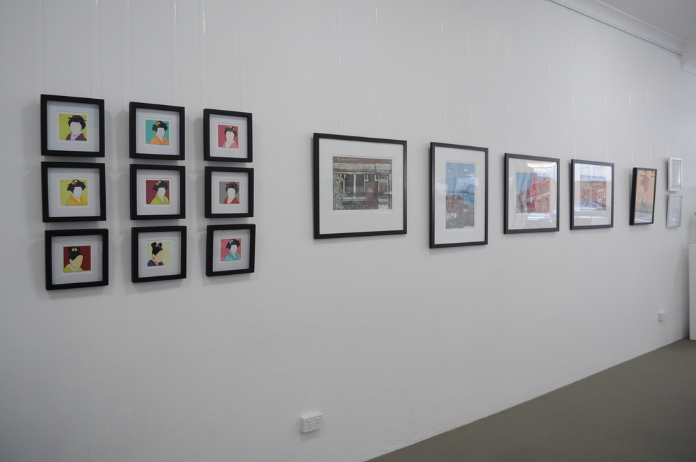 Annemaree Hunter - papercuts, Alison Pateman - reduction linocuts