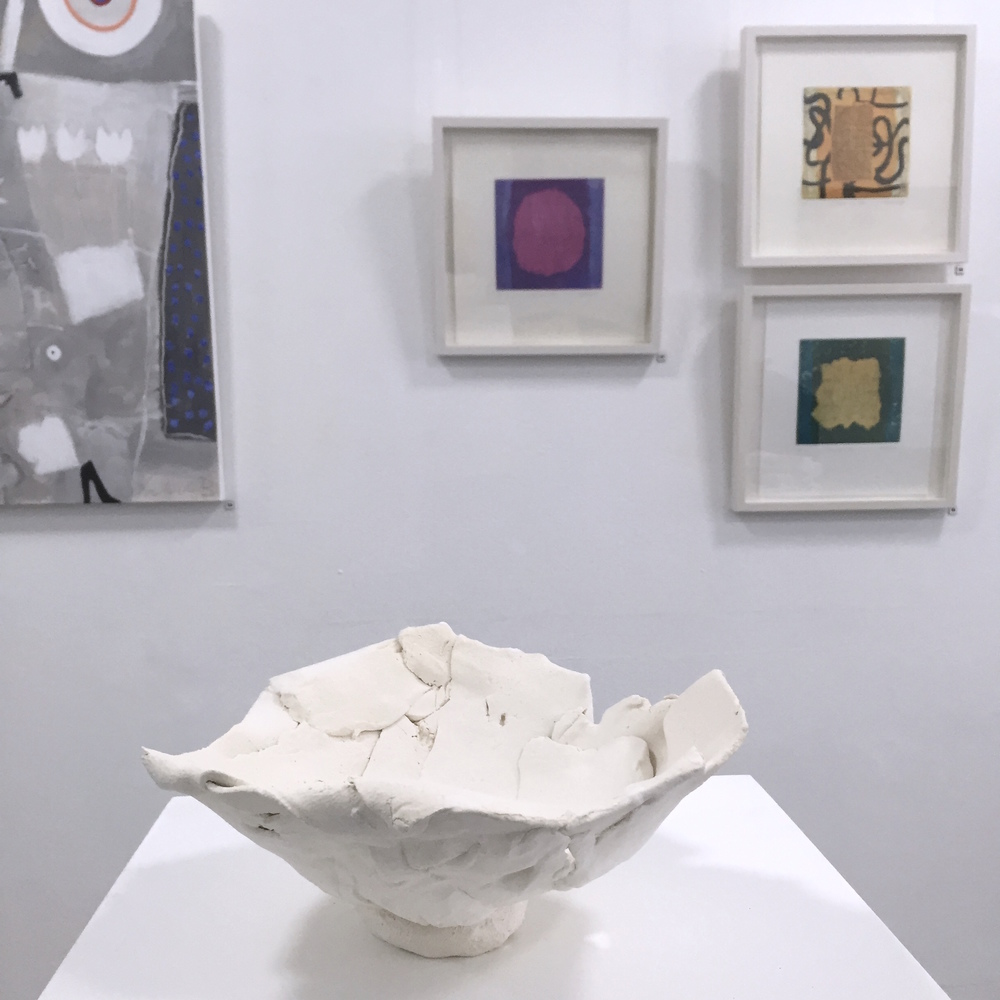 Beyond COLOUR  27 Apr - 14 May 2016 ~ John Heaney (ceramics), Matthew Tome (etchings), Sieglinde Battley (painting), Lynette Bridge (painting - not in above image)