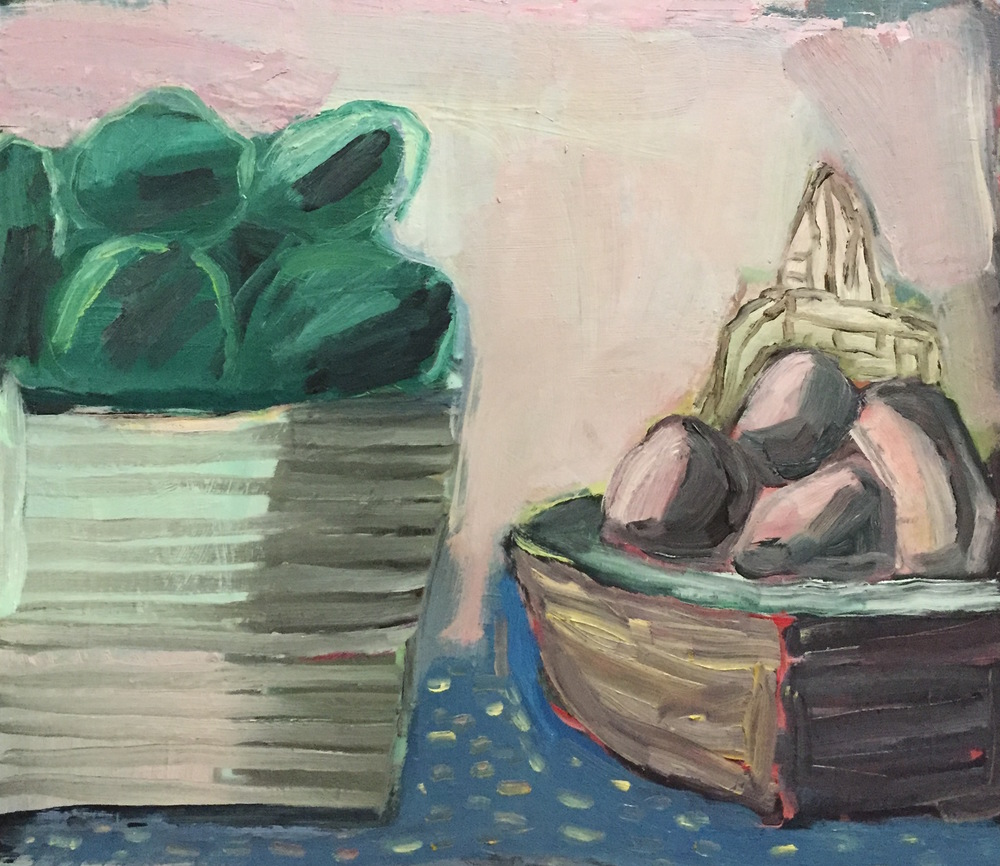 Michelle Brodie  Gathering Vessels  2015 oil on board 35 x 40cm