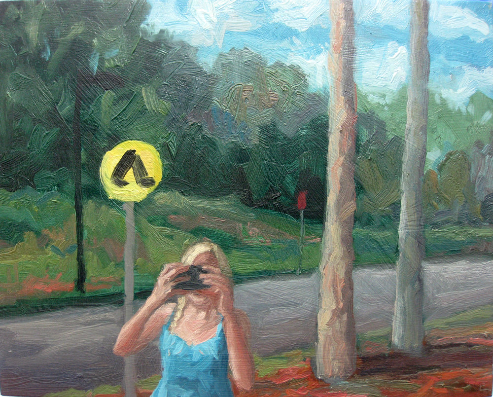 Nature Selfie  2016 oil on board 40 x 50cm $850.00