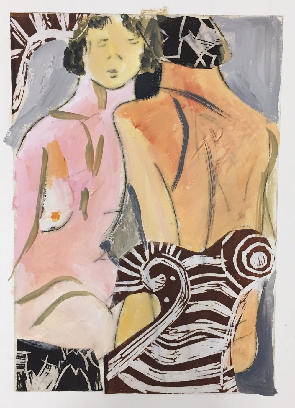 Jane Collins Nudes 32x23cm (image size) drypoint, gouache & lino print collage on paper VE.jpg
