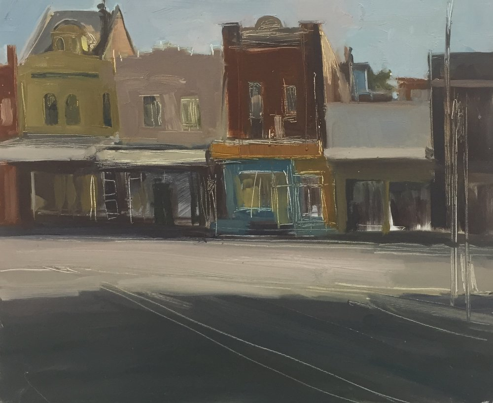Dino Consalvo_en plein air -Hunter St_2017_oil on board_20x30cm_$350.00.JPG