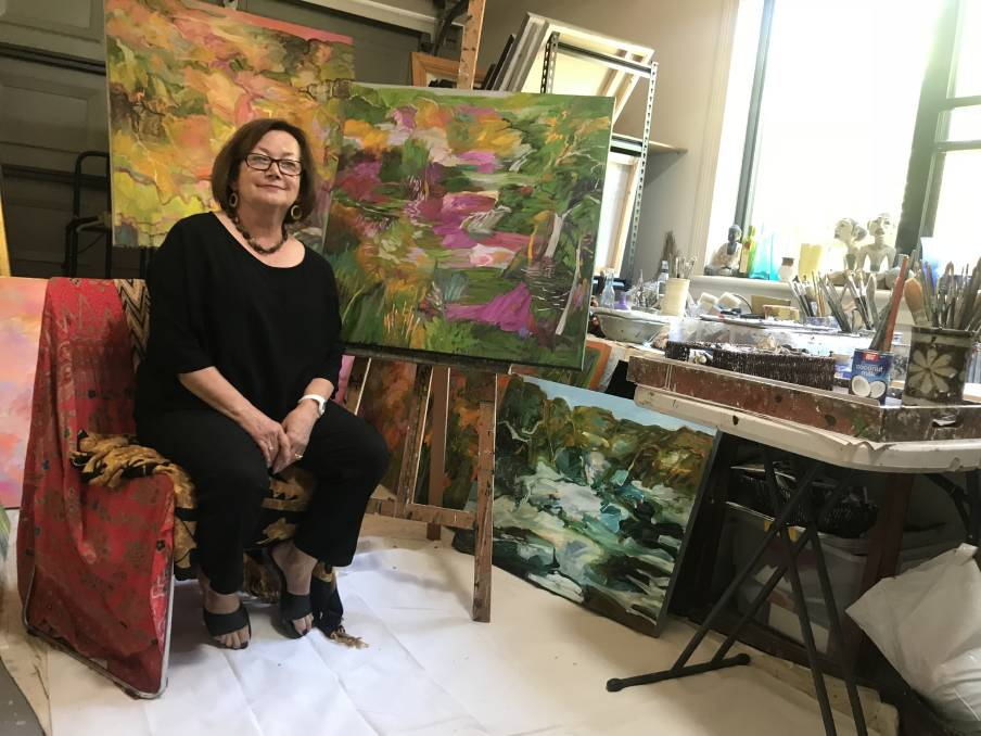 Lydia Miller in her home studio in Mayfield photo by Newcastle Star