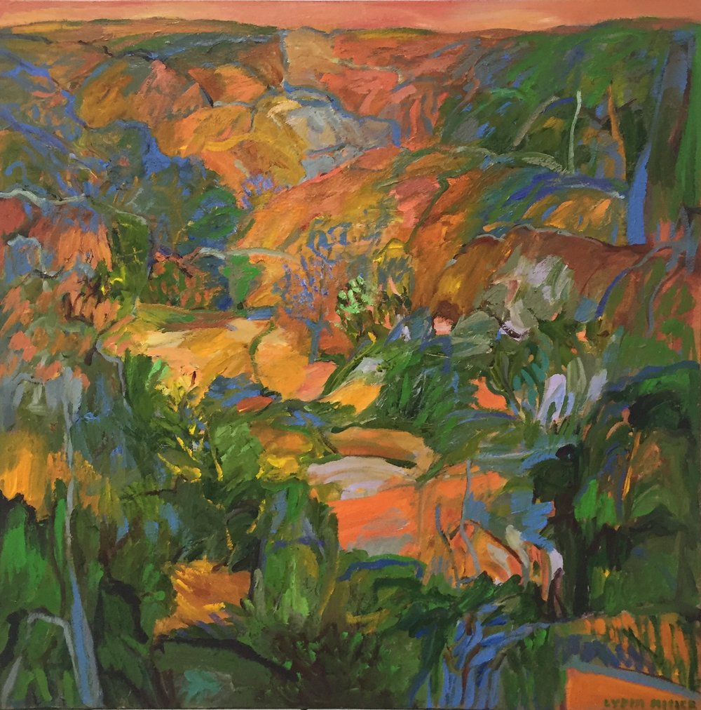 Lydia Miller Verdant oil on canvas 76 x 76cm  $900.00.JPG