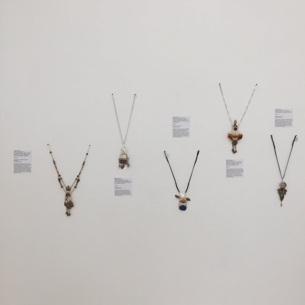 below Barbara Nanshe sculptural jewellery