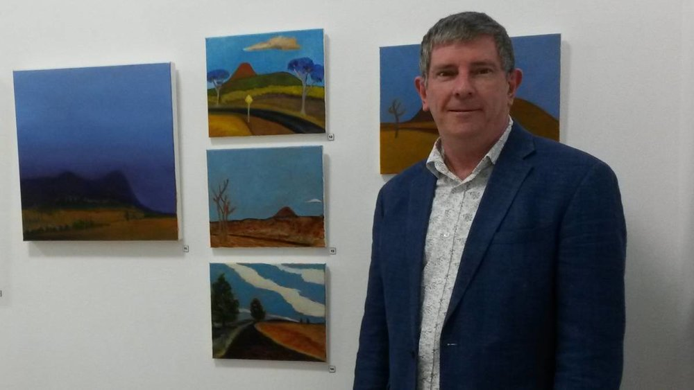 MEANINGFUL: Malcolm Sands makes art around ideas and places that are significant to him. Picture: supplied
