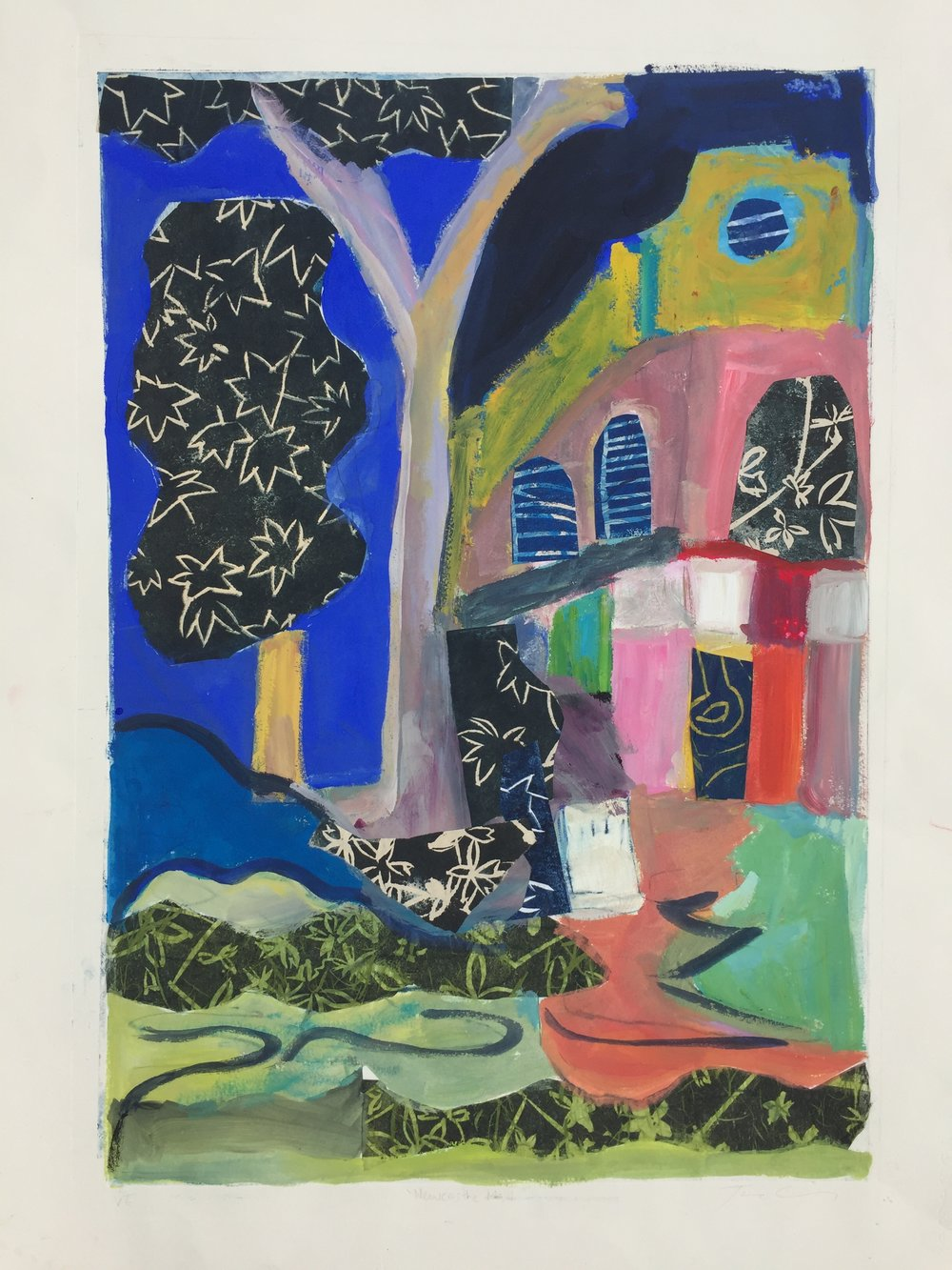 Jane Collins_Newcastle Mall_2018_printmaking, collage and paint_76 x 56cm_$650.00.JPG