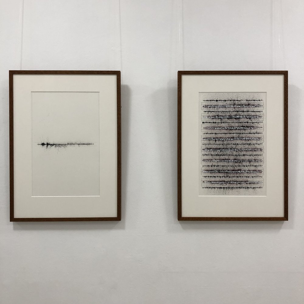 Ben Gallagher  Mortar Lines   01.01BI - 02.01RP  2018 ink, graphic and coloured pencil on Arches paper 82 x 60cm inc frame $1800.00 Ben Gallagher  Mortar Lines   17.01BI - 08.02RI – 08.01WI - 01GRIDBP  2018 ink, graphic and coloured pencil on Arches paper 82 x 60cm inc frame $1800.00