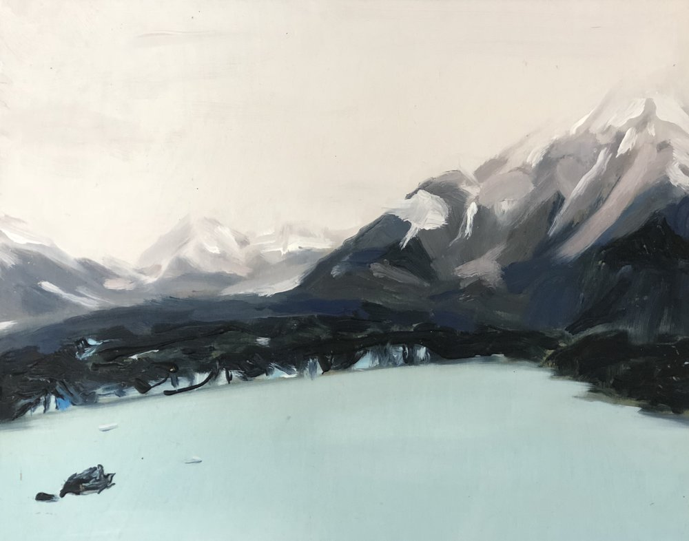 Michelle Teear_Tasman Glacier 2017_oil on plywood, egg emulsion_28 x 35.5cm_$220.00.jpg