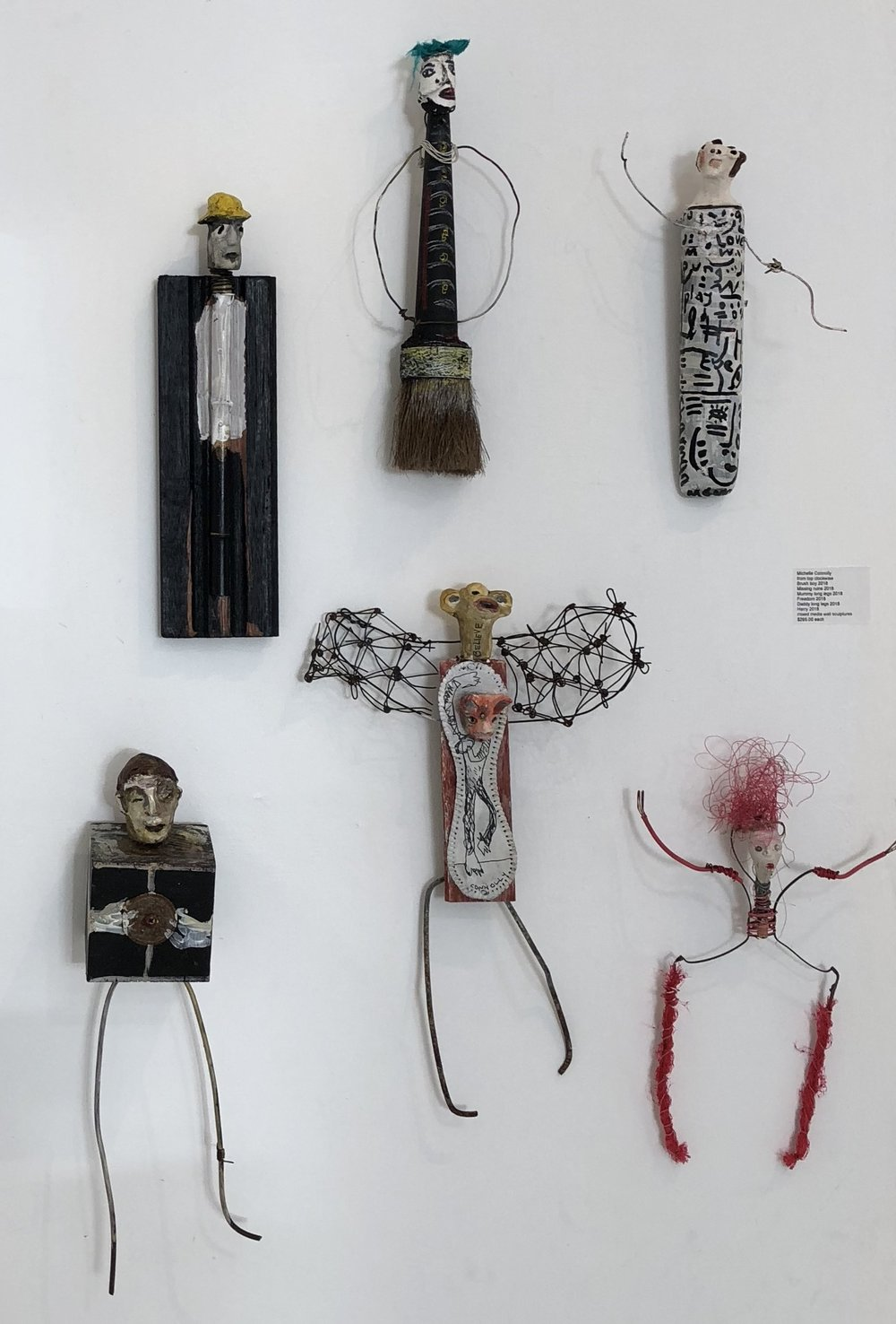 Michelle Connelly  various small sculptures mixed media  $295.00 each