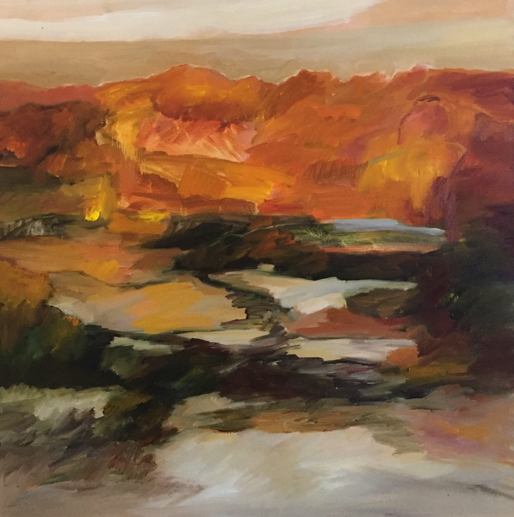 Lydia Miller   Afternoon sun  2017  oil on canvas  76 x 76cm