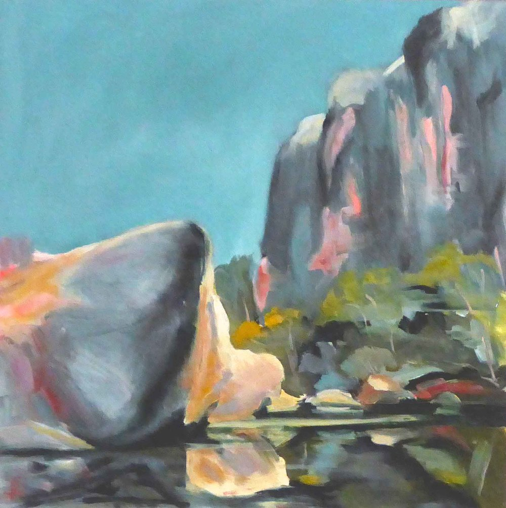 Shelagh Lummis  Stillness 2  2018 oil on board 60 cm x 60 cm $850.00
