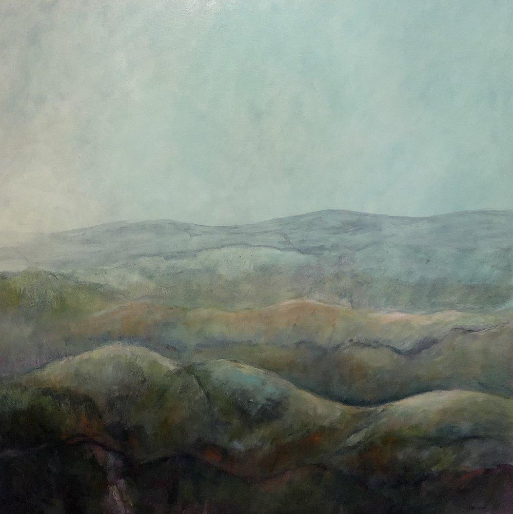 Helene Leane  Rolling Hills  acrylic on canvas 100 x 100cm $1800.00