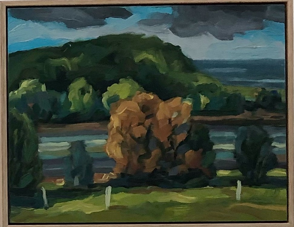 Peter Lankas   Glenrock  2018 oil on board  30 x 37.5cm  $550.00.