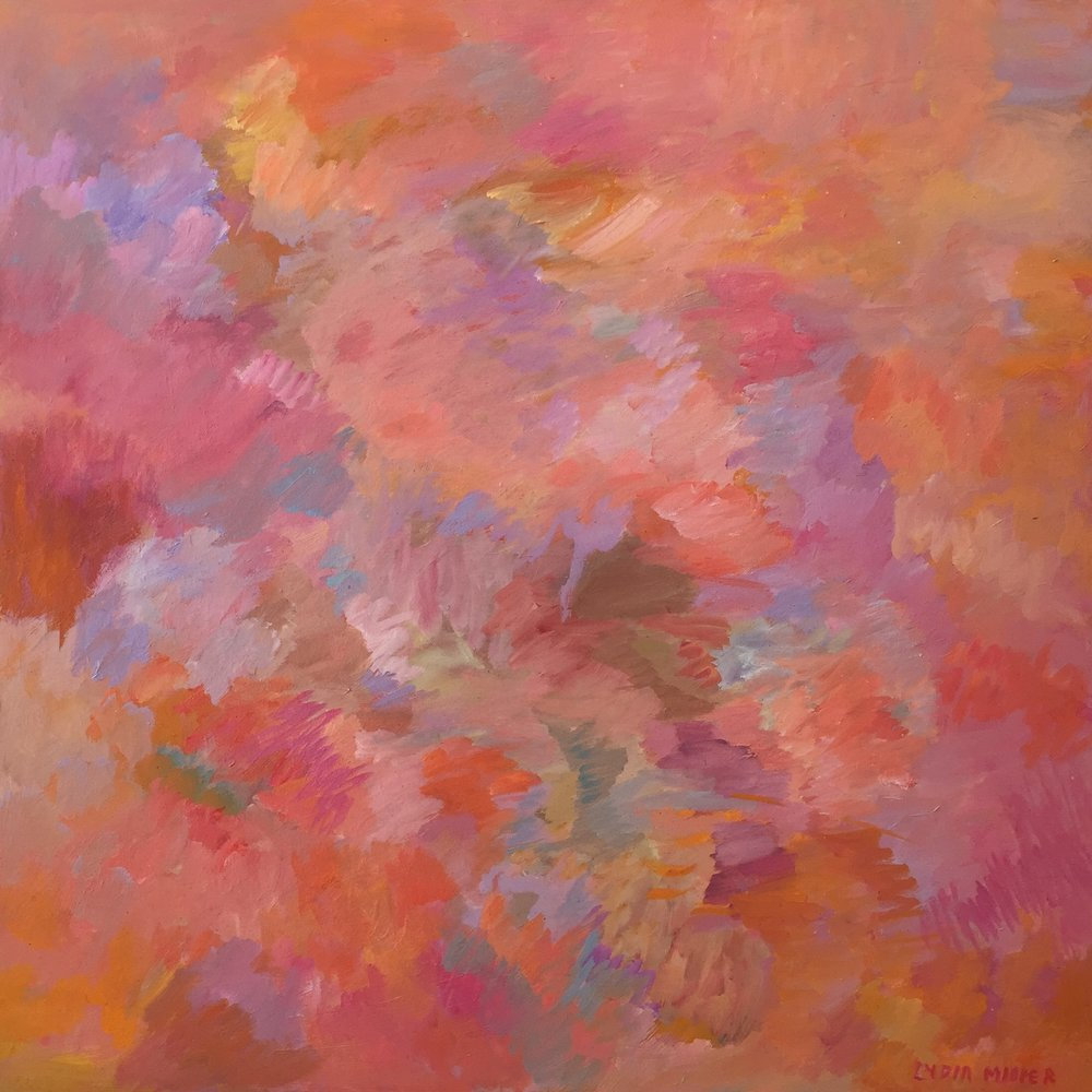 Lydia Miller  Summer Haze I  2018 oil on canvas 76 x 76cm $1200.00