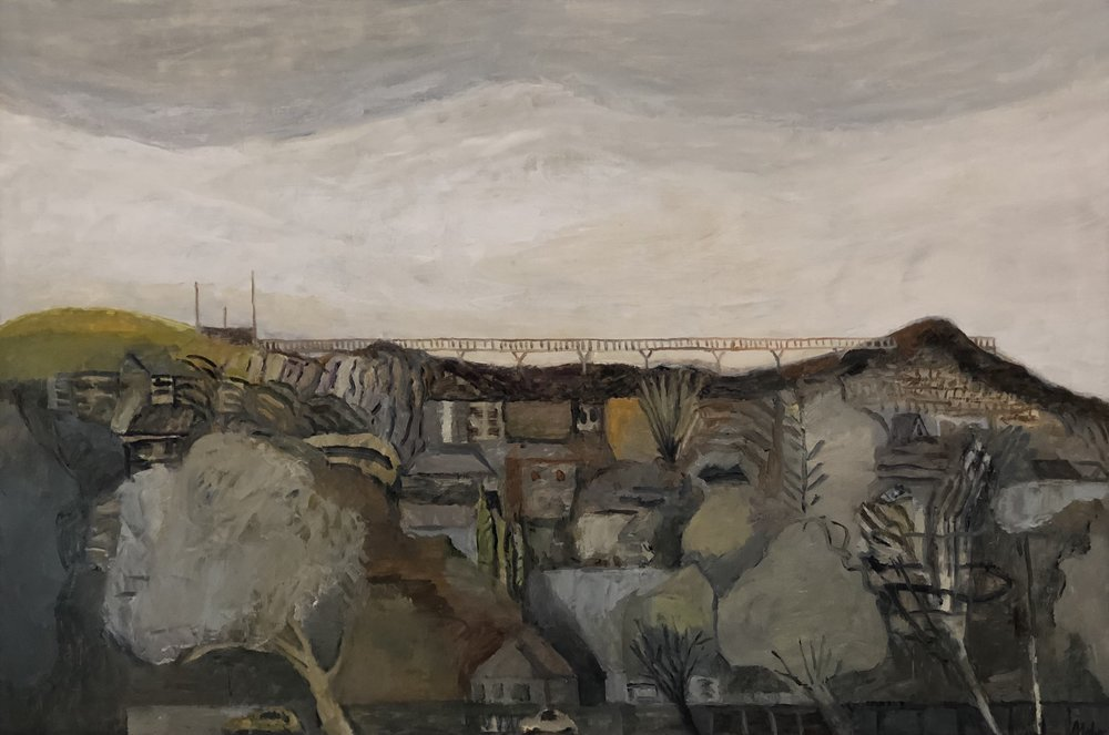 Paul Maher  Anzac Walk - golden age  2018 oil on canvas 85 x 125cm $1100.00