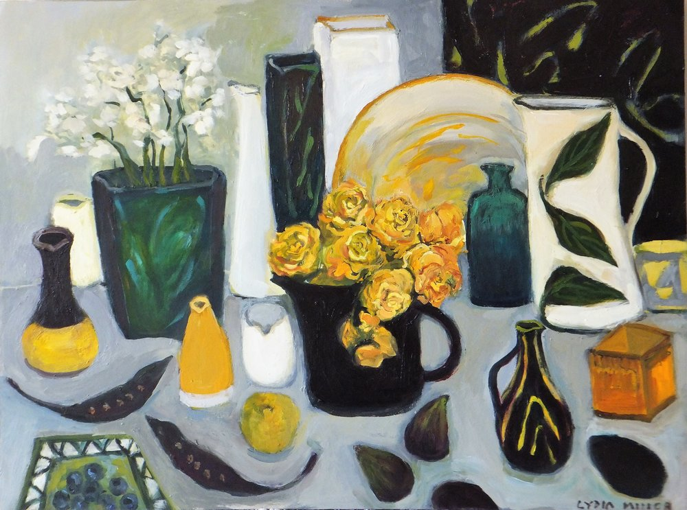 Lydia Miller, Still-Life with seed pods, 2018 oil on canvas, 46 x 60cm $500.00