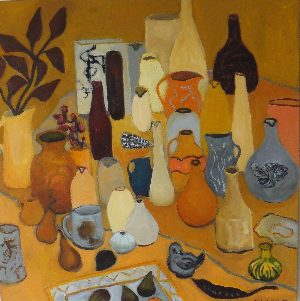 Lydia Miller, Still-Life with bird, 2018 oil on canvas, 76 x 76cm $920.00