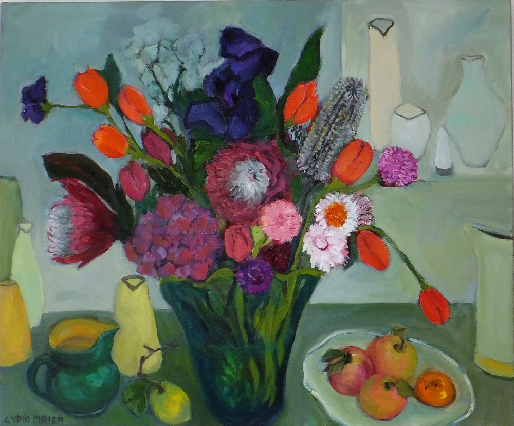 Lydia Miller, Still-Life with flowers, 2018 oil on canvas, 61 x 76cm $850.00