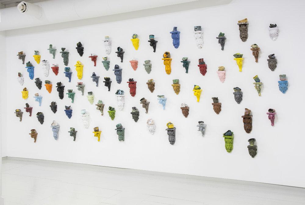 Heidi Bjørgan, Installasjon 1-17. Foto: Dannevig©Bomuldsfabriken Kunsthall